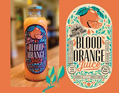 Orange Juice Label Design