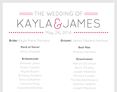 Wedding/Invitation Design