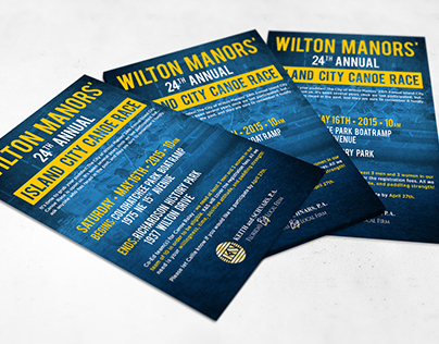 Wilton Manors Canoe Race Flyer