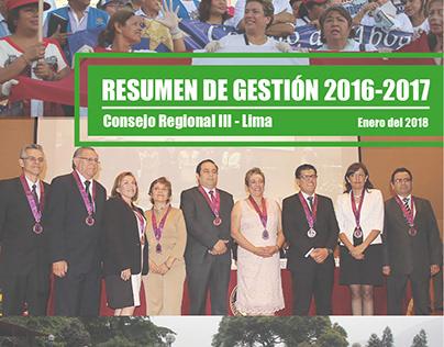 Resumen de Gestión Consejo Regional III-Lima - CMP