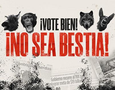 ¡No sea bestia! - Campaña gráfico promocional