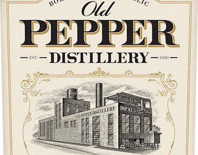 Old Pepper Distillery Illustrated by Steven Noble