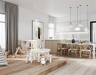 3D   Modern Bohemian House