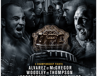 UFC 205 Keyart Comps