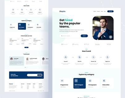 Zilojobs - Creative Landing Page