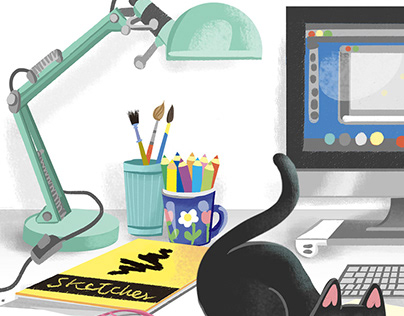 illustrator's desk