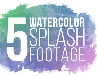 5 Watercolor Splash Footage 4K