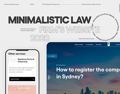Minimalistic Law Firm's Website 2020 | Smotrow Design