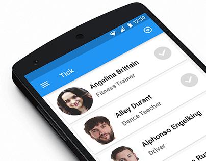Tick App Intro Screens Animation by Principle App