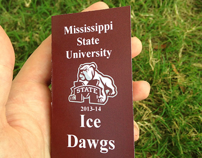 Mississippi State University Ice Dawgs Schedule Card