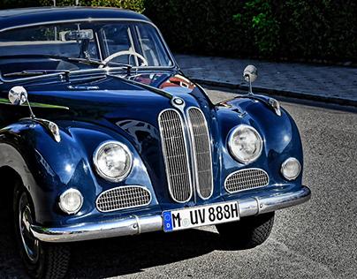 Blue BMW Baroque Angel V8 Auto