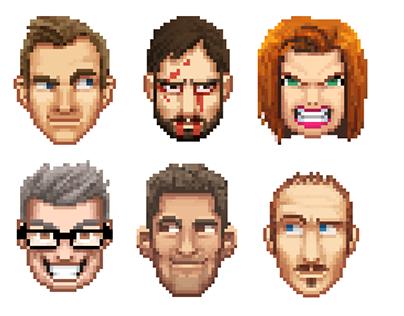 DOOM Inspired Pixel Avatars for Video Game Website