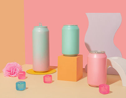 Pastel Soda Cans - Still Life Photography