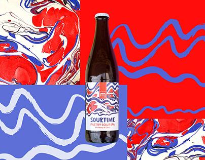 Sourtime - beer label.