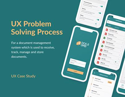 UX Case Study || Doc2DMS