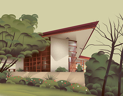 A map of Frank Lloyd Wright homes