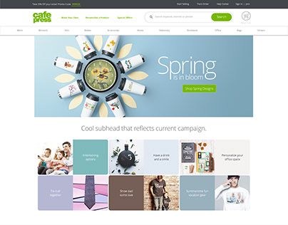 CafePress Web Design