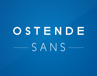 Ostende Sans Typeface of 12 Fonts.