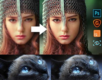 Fix pixelated Image in Adobe Photoshop