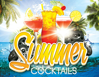 Summer Cocktails Party Flyer