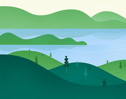 Landscape Illustrations, Blue State Digital