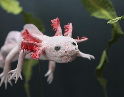 Crepe Paper Axolotl