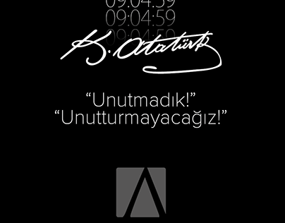 10 Kasım Atatürk'ü anma görseli