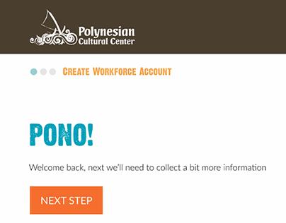 Polynesian Cultural Center Employee On-boarding App