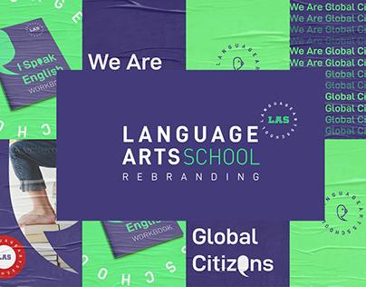 "Rebranding of Logo and Identity."" LAS SCHOOL"""
