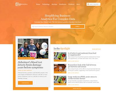 Data Analytics Homepage UI Design
