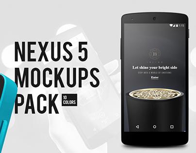 Nexus 5 mockups pack