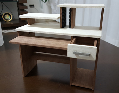 Maquete Mobiliário Mesa de Computador