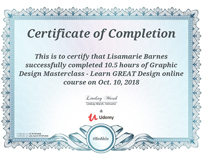 Udemy Certificates