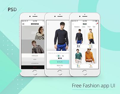 Free Fashion App UI [PSD]