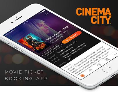 Cinema City - Movie Ticket Booking App Concept