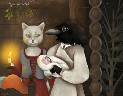 Folklore mystical illustrations