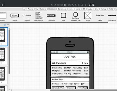 Mobile App - Wireframes