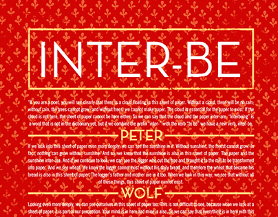 "Peter Wolf Crier ""Inter-Be"" poster"