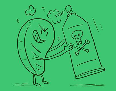 Fun Vegan Illustrations