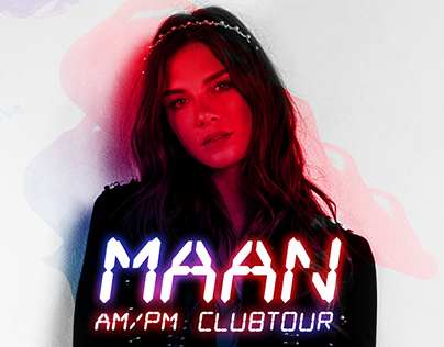 Art direction and design for Maan clubtour 2017/2018.