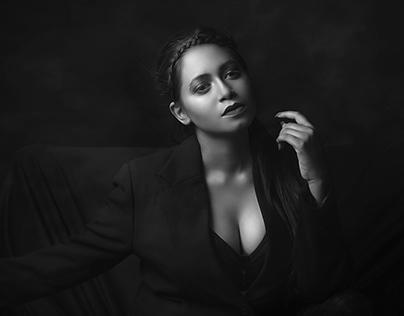 Dark black Lady