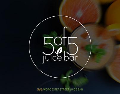 5of5 Street Juice Bar: Logo & Identity