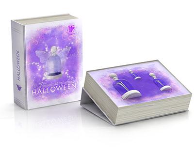 """Cofre rígido para perfume """"Halloween"""" Navidad"""