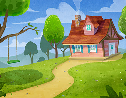 """""""Red Ridding Hood"""" Backgrounds"""