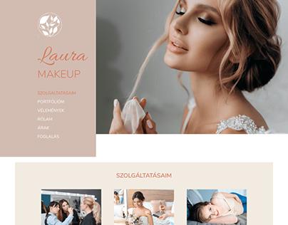 Webdesign for a makeup artist's webpage