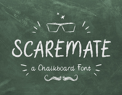 Scaremate – Hand Drawn Chalkboard Font