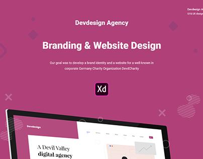 Free Devdesign Agency XD UI Website Template