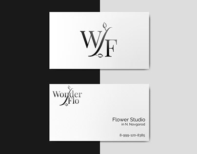 "Logo for ""WonderFlo"" studio"
