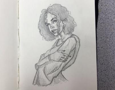 12/7 sketchbook practice/ concentration ideas
