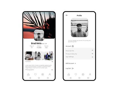 User profile for social app